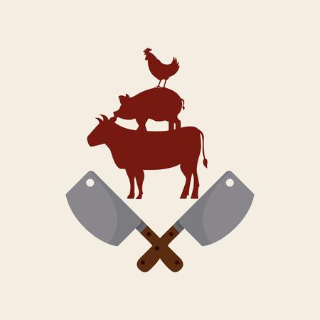 chicken chop: butcher concept design, vector illustration Illustration