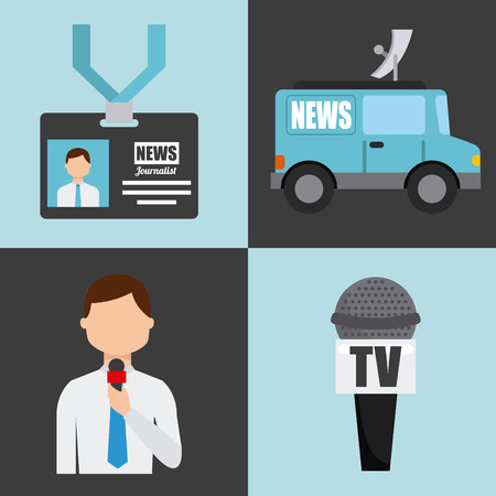 antena: news concept design, vector illustration