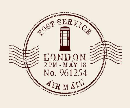 poststempel: Stempel mail Design, Vektor-Illustration eps10 Grafik