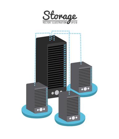 device: storage device design, vector illustration