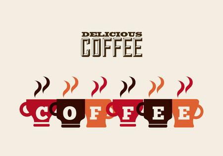 delicious coffee design, vector illustration