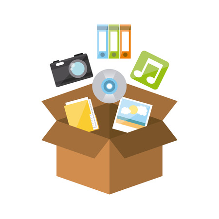 device: storage device design, vector illustration  Illustration