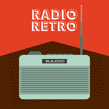 antena: retro style icon design, vector illustration  Illustration