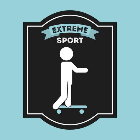 dangerouse: extreme sport design, vector illustration eps10 graphic