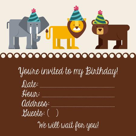 birthday invitation: birthday invitation design, vector illustration
