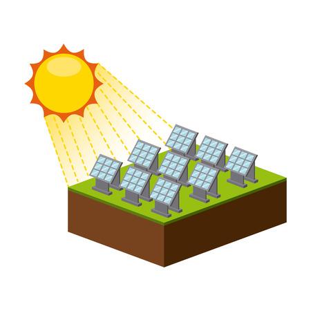 energia solar: diseño de la energía solar, ilustración vectorial