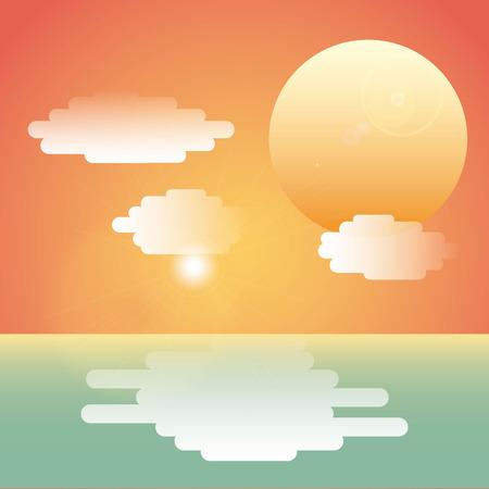 sea landscape: sea landscape design, vector illustration Illustration
