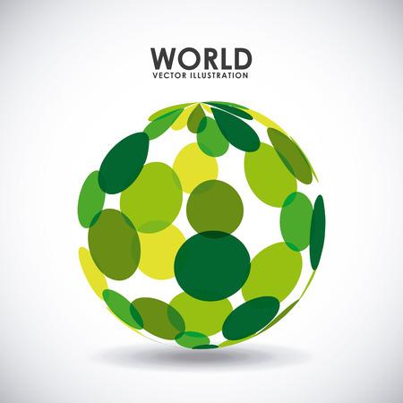 abstracts: world icon design, vector illustration  Illustration