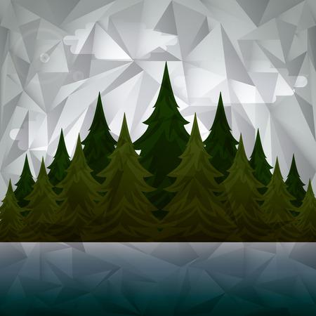 tress: double esposure design, vector illustration eps10 graphic