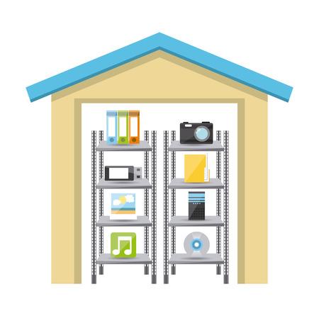 storage device: storage device design, vector illustration