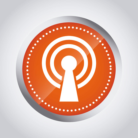 antena: wifi service design, vector illustration eps10 graphic