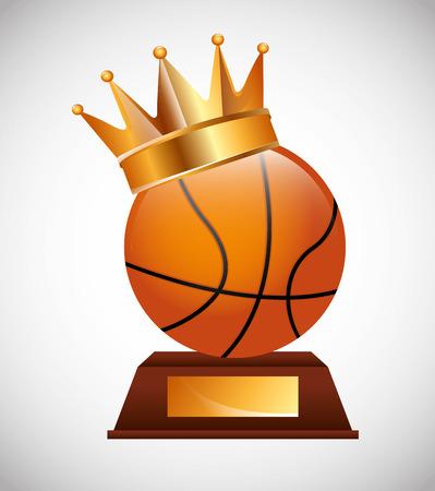 balon baloncesto: dise�o del emblema del deporte, ilustraci�n vectorial Vectores