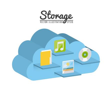 storage device: storage device design, vector illustration  Illustration
