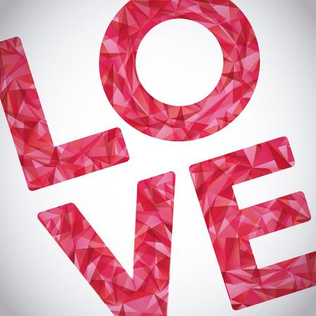 love card: love card design, vector illustration