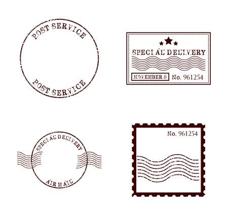 disegno francobollo di posta, illustrazione vettoriale