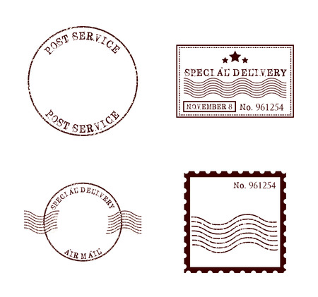 stamp collection: stamp mail design, vector illustration
