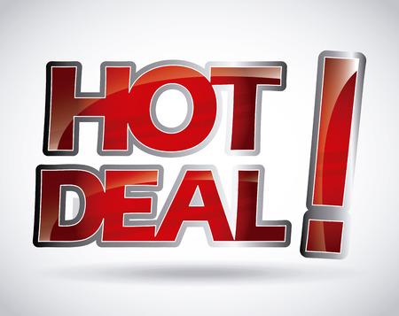 hot background: hot deal design, vector illustration