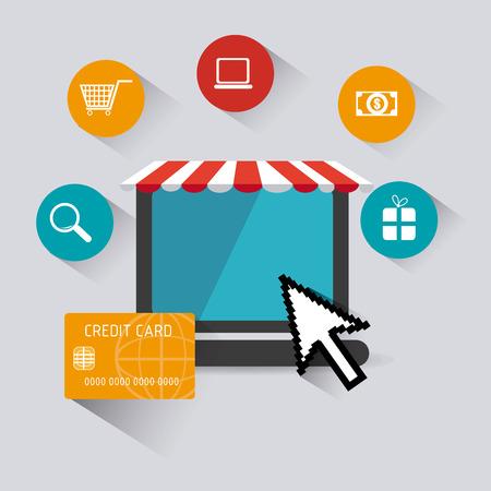 monet: Shopping digital design, vector illustration eps 10