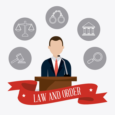 law and order: Law and order design, vector illustration eps 10. Illustration
