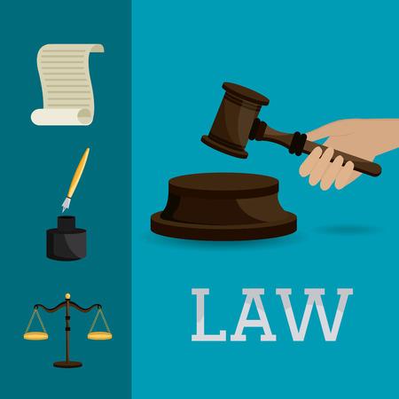 tribunal: Law and order design, vector illustration eps 10. Illustration