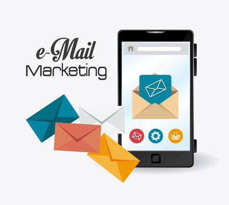 mobile marketing: Email marketing design, vector illustration eps 10.