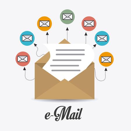 correo electronico: Email dise�o de marketing, ilustraci�n vectorial eps 10.