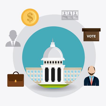 voter: Vote digital design, vector illustration eps 10