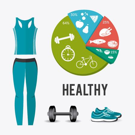 athletic wear: Fitness lifestyle design, vector illustration eps 10. Illustration