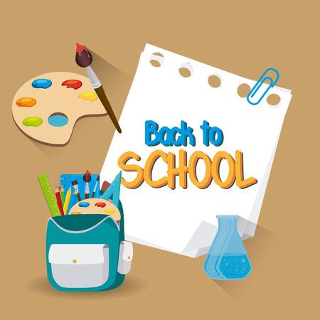 school illustration: Back to school design, vector illustration eps 10.