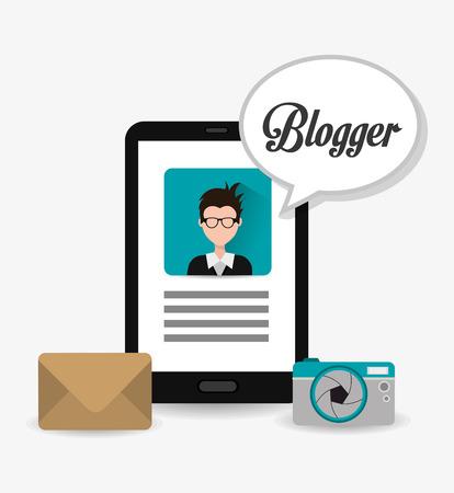 blogger: Blogger digital design, vector illustration eps 10.