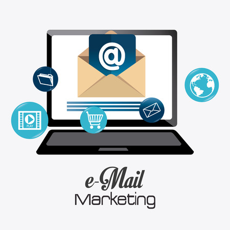 Email marketing design, vector illustration eps 10.