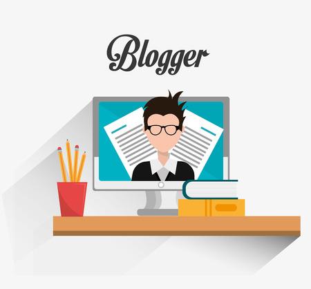 web content: Blogger digital design, vector illustration eps 10.