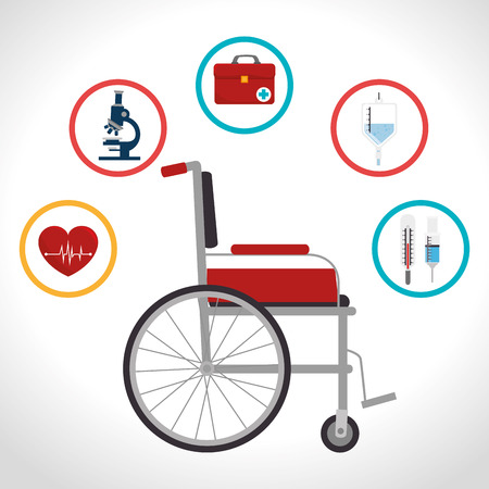 wheelchair users: Medical digital design, vector illustration eps 10.