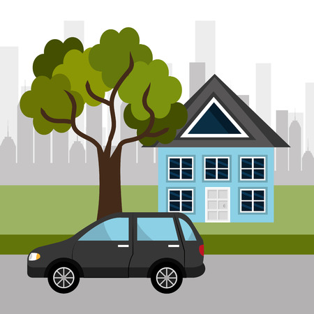 cartoon house: Urban digital design, vector illustration eps 10.