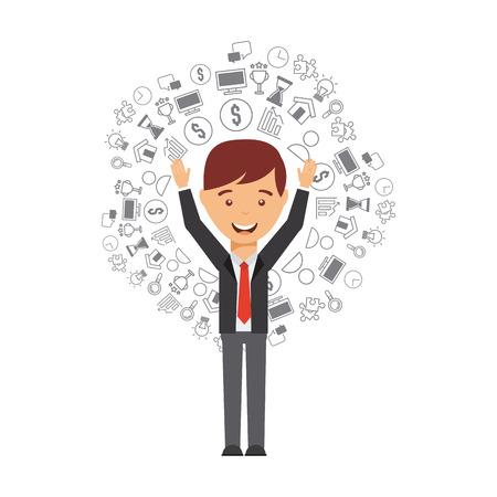 business people design, vector illustration eps10 graphic  イラスト・ベクター素材