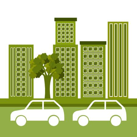 urbanization: Eco city design, vector illustration eps 10.