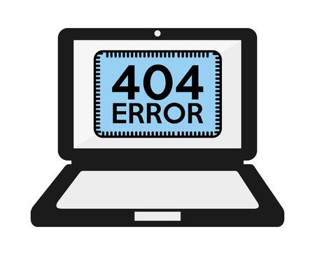 portable failure: 404 error design, vector illustration eps10 graphic