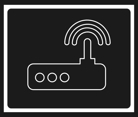 antena: computer icon design, vector illustration eps10 graphic Illustration