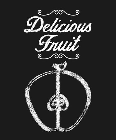 aple: delicious fruit design, vector illustration eps10 graphic