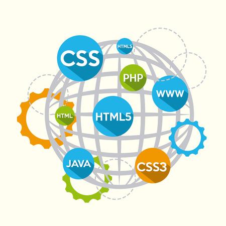 programming language design, vector illustration  Illustration