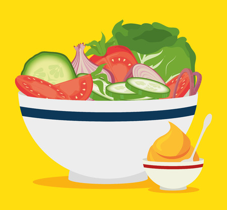 Design digitale di alimenti, illustrazione vettoriale eps 10. Vettoriali