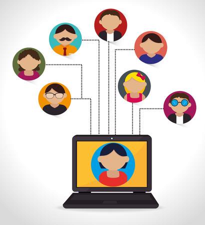 connect people: People digital design, vector illustration eps 10.