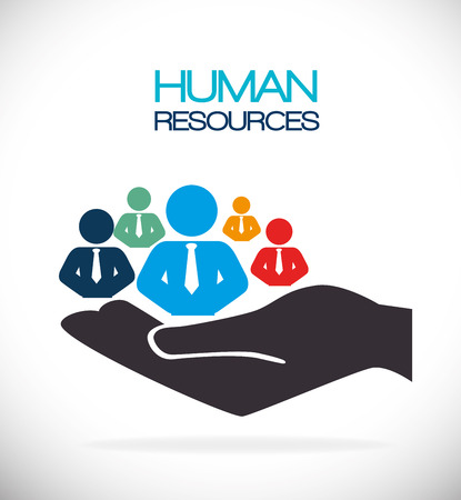 the human hand: Human resources design, vector illustration eps 10.