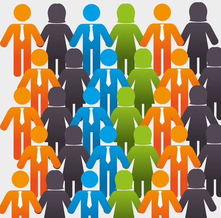 relaciones humanas: Dise�o de los recursos humanos, ilustraci�n vectorial eps 10.
