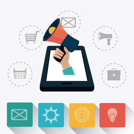 Digital marketing design, vector illustration eps 10.