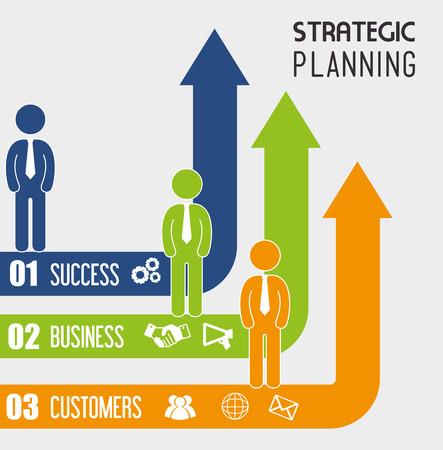 planificacion: Diseño estratégico de planificación, ilustración vectorial eps 10.