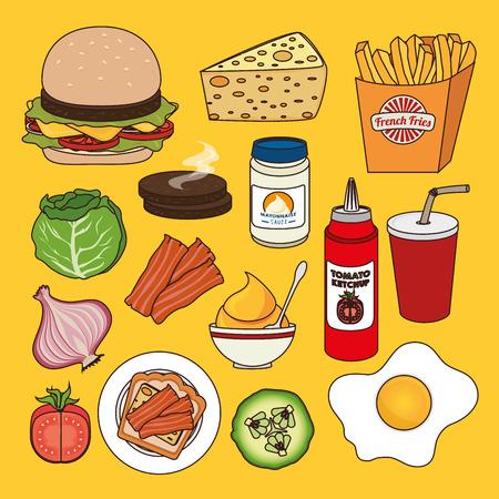 hamburger and fries: Hamburger digital design, vector illustration eps 10.