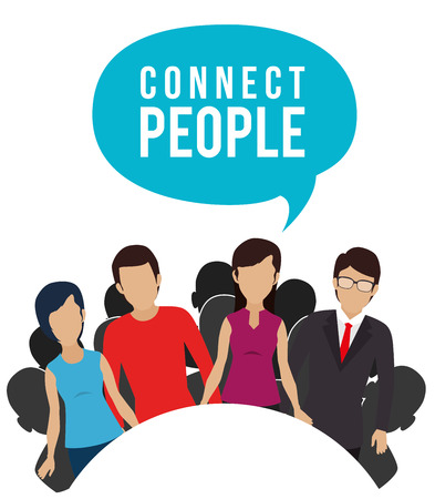 socializando: People digital design, vector illustration eps 10.
