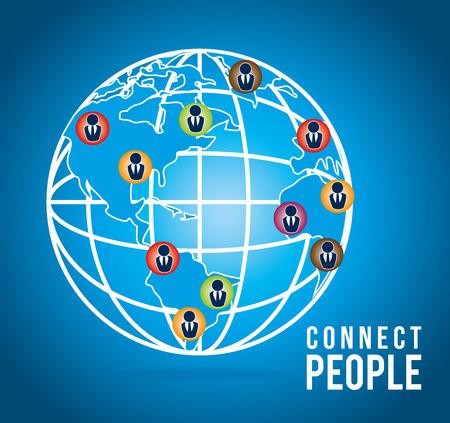 socializing: People digital design, vector illustration eps 10.