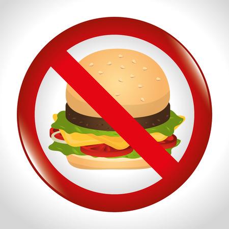 do cooking: Hamburger digital design, vector illustration eps 10.